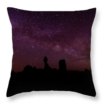 Balancing The Universe Throw Pillow by Silvio Ligutti