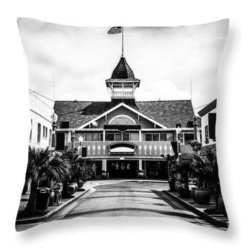 Balboa California Main Street Black And White Picture Throw Pillow by Paul Velgos