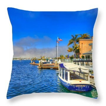 Balboa Island - North Throw Pillow by Jim Carrell