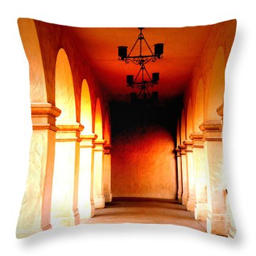 Balboa Park At Sunrise Xl Throw Pillow