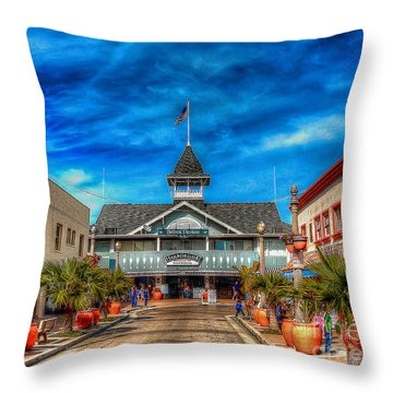 Throw Pillow featuring the photograph Balboa Pavilion by Jim Carrell