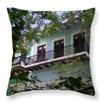 Balcony At La Caleta Throw Pillow
