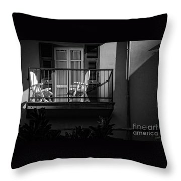 Balcony Bathed In Sunlight Throw Pillow