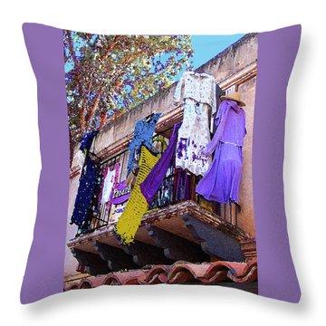 Balcony Throw Pillow by Ben and Raisa Gertsberg