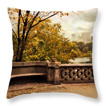 Balcony Bridge Views Throw Pillow
