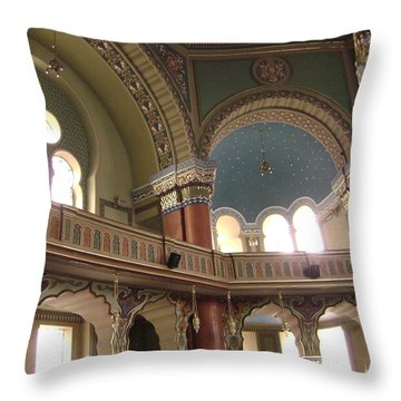 Balcony Of Sofia Synagogue Throw Pillow