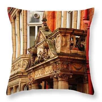 Balcony On Surrey Street Throw Pillow