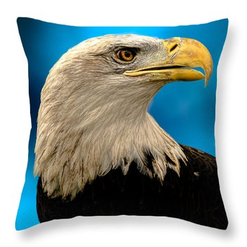 Bald Eagle And Fledgling  Throw Pillow by Bob Orsillo