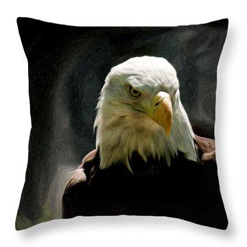Bald Eagle Giving You That Eye Throw Pillow
