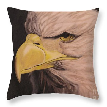 Bald Eagle Throw Pillow by Wil Golden
