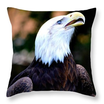 Throw Pillow featuring the photograph Bald Is Beautiful by Deena Stoddard
