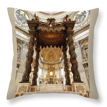 Baldacchino Di San Pietro Throw Pillow