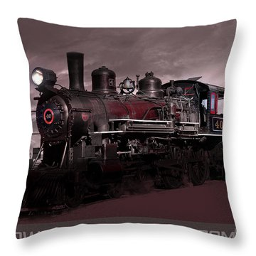 Throw Pillow featuring the photograph Baldwin 4-6-0 Steam Locomotive by Gunter Nezhoda