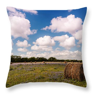 Bales Of Hale - Quintessential Texas Hill Country - Luckenback Throw Pillow