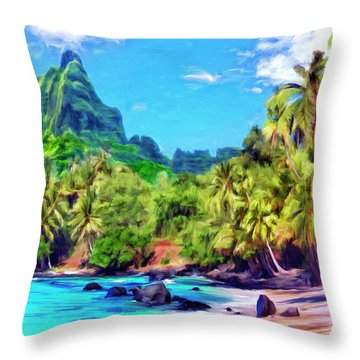 Bali Hai Throw Pillow by Dominic Piperata