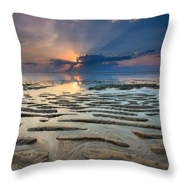 Bali Sunrise Throw Pillow