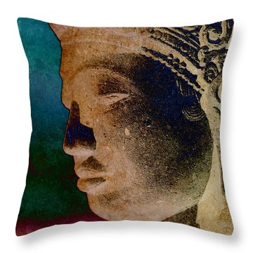 Balinese 3 Throw Pillow