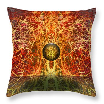 Ball And Strings Throw Pillow by Otto Rapp