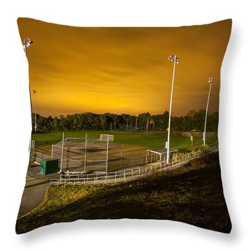 Ball Field At Night Throw Pillow