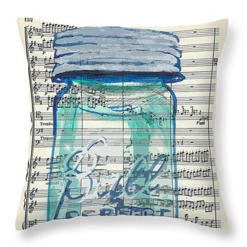 Throw Pillow featuring the painting Ball Jar Classical  #132 by Ecinja Art Works