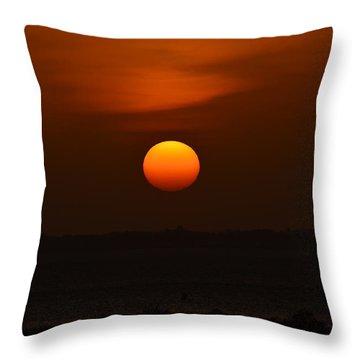 Ball Of Fire Throw Pillow by Debra Martz