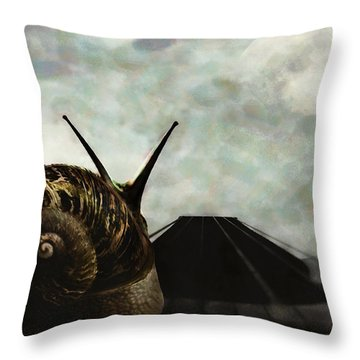 Throw Pillow featuring the digital art Ballad by Galen Valle