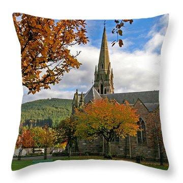 Ballater Church Throw Pillow