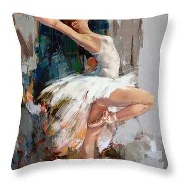 Ballerina 22 Throw Pillow