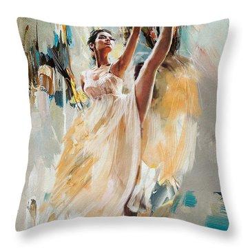 Ballerina 24 Throw Pillow