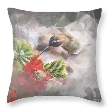 Ballerina Throw Pillow by Arne Hansen