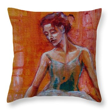 Ballerina In Repose Throw Pillow by Jani Freimann