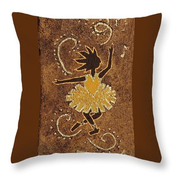 Ballerina Throw Pillow by Katherine Young-Beck