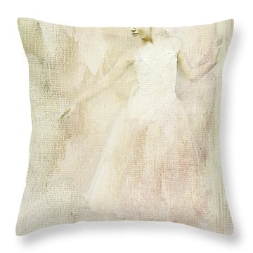 Throw Pillow featuring the painting Ballerina by Linda Blair