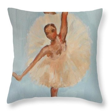 Ballerina Throw Pillow by Marisela Mungia