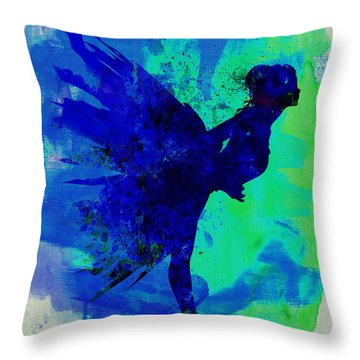 Ballerina On Stage Watercolor 2 Throw Pillow