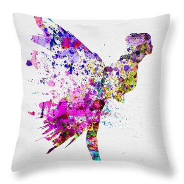 Ballerina On Stage Watercolor 3 Throw Pillow