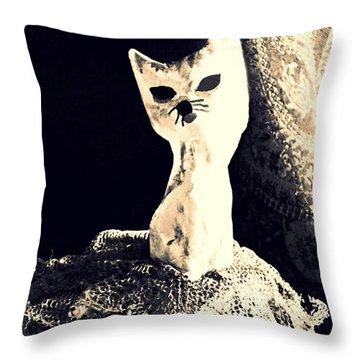 Ballerina Throw Pillow by Sarah Loft