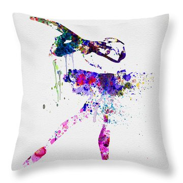 Ballerina Watercolor 2 Throw Pillow