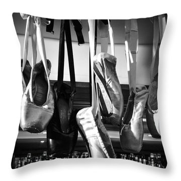 Ballet At The Bar Throw Pillow by Peta Thames