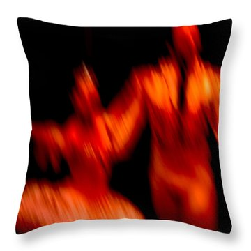 Ballet Blur 1 Throw Pillow by Paulo Guimaraes