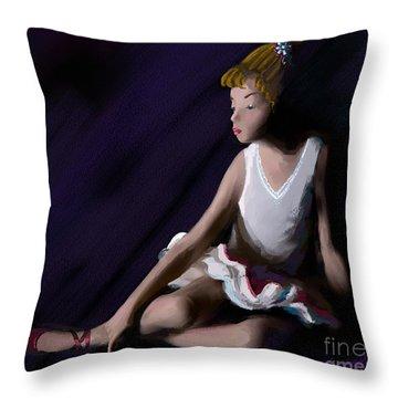 Ballet Dancer Throw Pillow by Michelle Wiarda