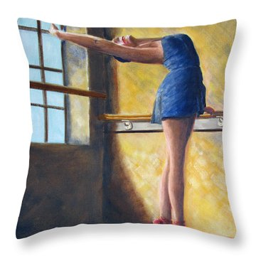 Ballet Dancer Warm Up Throw Pillow