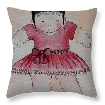 Ballet I Throw Pillow by Qian Chen