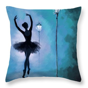 Ballet In The Night  Throw Pillow