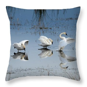 Dance Of The Trumpeters Throw Pillow