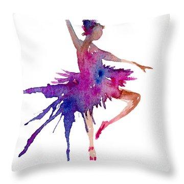Ballet Retire Devant Throw Pillow