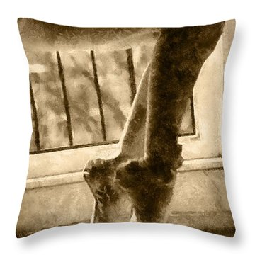 Ballet Stretch Throw Pillow