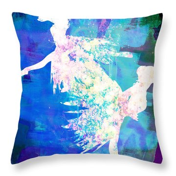 Ballet Watercolor 2 Throw Pillow