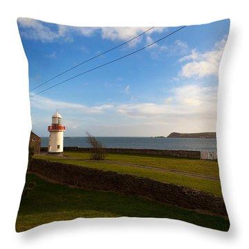 Ballinacourty Lighthouse, Dungarvan Throw Pillow