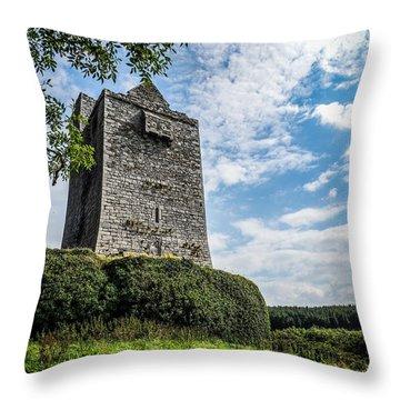 Ballinalacken Castle In Ireland's County Clare Throw Pillow